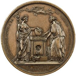 FRANCE: AE medal (39.76g), 1840. AU