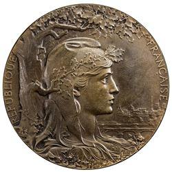 FRANCE: AE medal (97.71g), 1900. UNC