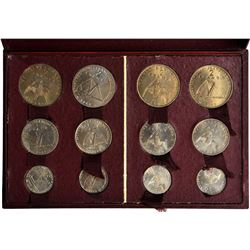 FRENCH COLONIES: essai set, 1948, SET of 12 cupro-bronze ESSAI patterns designed by A. Rivaud