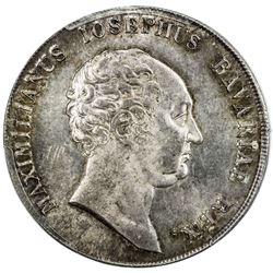 BAVARIA: Maximilian I, King, 1806-1825, AR thaler, 1809. PCGS MS63