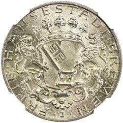 BREMEN: Free and Hanseatic City, AR 2 mark, 1904-J. NGC MS66