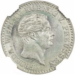 PRUSSIA: Friedrich Wilhelm IV, 1840-1861, AR 2 1/2 groschen, 1843-A. NGC MS66
