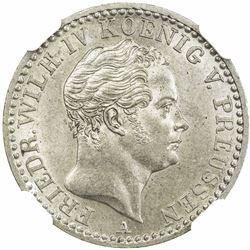 PRUSSIA: Friedrich Wilhelm IV, 1840-1861, AR 1/6 thaler, 1848-A. NGC MS65