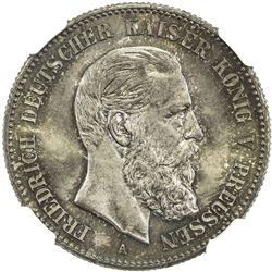 PRUSSIA: Friedrich III, 1888, AR 2 mark, 1888-A. NGC MS66