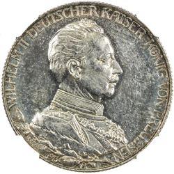 PRUSSIA: Wilielm II, 1888-1918, AR 2 mark, 1913-A. NGC PF65