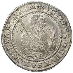 SAXE-ALBERTINE LINE: August, 1553-1586, AR thaler (28.58g) (Dresden), 1561-HB. VF-EF