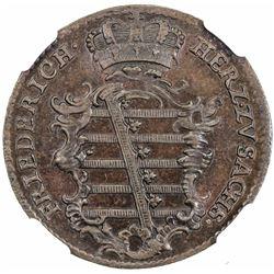 SAXE-GOTHA-ALTENBURG: Friedrich III, 1732-1772, AE 3 pfennig, 1761-LCK. NGC MS65