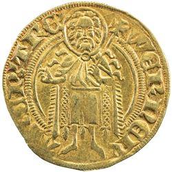 TRIER: Werner von Falkenstein, 1388-1418, AV goldgulden (3.46g) (Wesel), ND. VF