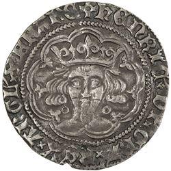 ENGLAND: Henry VI, 1422-1461, 1470-1471, AR groat, ND (1422-30). VF