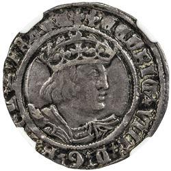 ENGLAND: Henry VIII, 1509-1547, AR 4 pence (groat). NGC VF35