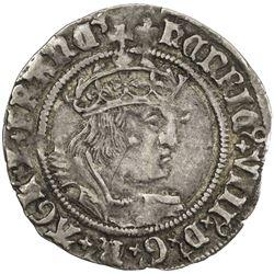 ENGLAND: Henry VIII, 1509-1547, AR groat, ND (1526-44). VF