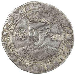 ENGLAND: Edward VI, 1547-1553, AR sixpence, ND (1551-3). F