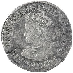 ENGLAND: Mary, 1553-1554, AR groat, ND. F-VF