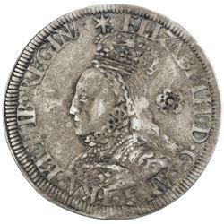 ENGLAND: Elizabeth I, 1558-1603, AR sixpence, 1562. F-VF