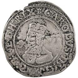 ENGLAND: Charles I, 1625-1649, AR sixpence, 1646. VF-EF