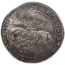 ENGLAND: Charles I, 1625-1649, AR crown, Truro mint, undated (struck circa 1639), NGC F15
