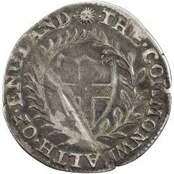 ENGLAND: Commonwealth, 1649-1660, AR sixpence, 1652. F-VF