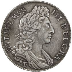 GREAT BRITAIN: William III, 1694-1702, AR half crown, York, 1697. EF