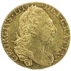 GREAT BRITAIN: George III, 1760-1820, AV guinea, 1820. EF
