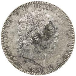 GREAT BRITAIN: George III, 1760-1820, AR crown, 1820. EF