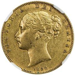 GREAT BRITAIN: Victoria, 1837-1901, AV sovereign, 1838. NGC AU53