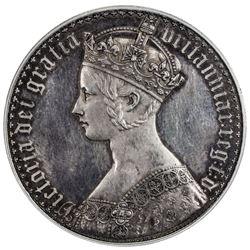 GREAT BRITAIN: Victoria, 1837-1901, AR crown, 1847. PCGS PF62