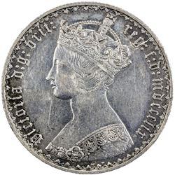 GREAT BRITAIN: Victoria, 1837-1901, AR florin, 1859. EF