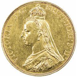 GREAT BRITAIN: Victoria, 1837-1901, AV 5 pounds, 1878, UNC