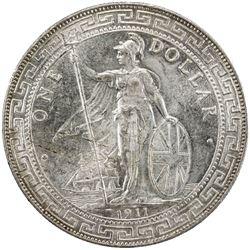 GREAT BRITAIN: George V, 1910-1936, AR trade dollar, 1911-B. UNC