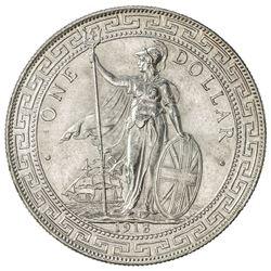 GREAT BRITAIN: George V, 1910-1936, AR trade dollar, 1913-B. UNC