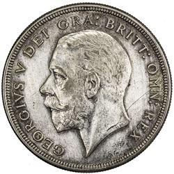 GREAT BRITAIN: George V, 1910-1936, AR crown, 1928. EF-AU