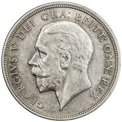 GREAT BRITAIN: George V, 1910-1936, AR crown, 1929. AU
