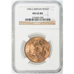 GREAT BRITAIN: Lot of seventeen high-grade certified pennies