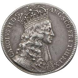 GREAT BRITAIN: Charles II, 1660-1685, AR coronation medal (7.79g), 1661. VF