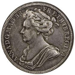 GREAT BRITAIN: Anne, 1702-1714, AR medal, 1702. NGC AU55