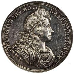 GREAT BRITAIN: George I, 1714-1727, AR coronation medal, 1714. NGC AU58