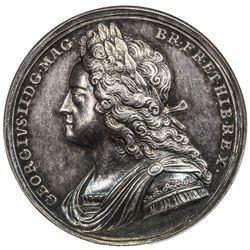GREAT BRITAIN: George II, 1727-1760, AR coronation medal (18.54g), 1727. NGC AU58