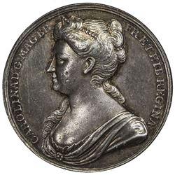 GREAT BRITAIN: AR coronation medal, 1727. NGC AU50