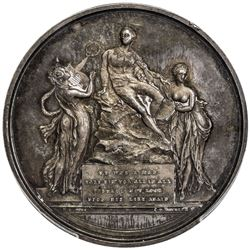 GREAT BRITAIN: AR medal, 1803, PCGS MS61, ex Sir Alured Clarke (Governor General of India)