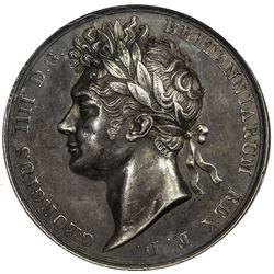 GREAT BRITAIN: George IV, 1820-1830, AR coronation medal, 1821. NGC AU58