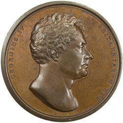 GREAT BRITAIN: George IV, 1820-1830, AE coronation medal (83.77g), 1821. UNC