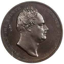 GREAT BRITAIN: William IV, 1830-1837, AE coronation medal, 1831. NGC MS65