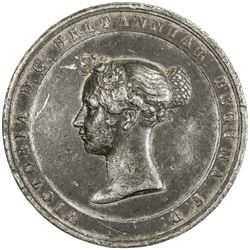 GREAT BRITAIN: Victoria, 1837-1901, white metal medal, 1842. VF