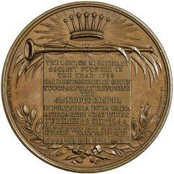 GREAT BRITAIN: Victoria, 1837-1901, AE medal, 1844. AU
