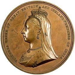GREAT BRITAIN: Victoria, 1837-1901, AE medal, 1881. EF