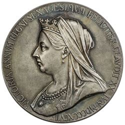 GREAT BRITAIN: Victoria, 1837-1901, AR jubilee medal (84.6g), 1887. UNC
