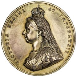 GREAT BRITAIN: Victoria, 1837-1901, jubilee medal (225.3g), 1887. UNC