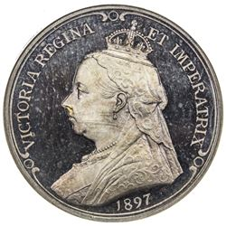 GREAT BRITAIN: Victoria, 1837-1901, AR jubilee medal, 1897. NGC PF64