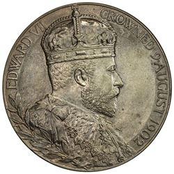 GREAT BRITAIN: Edward VII, 1901-1910, AE coronation medal (81.08g), 1902. UNC