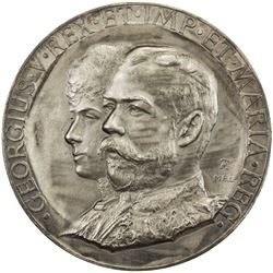 GREAT BRITAIN: George V, 1910-1936, AE coronation medal (72.17g), 1911. UNC